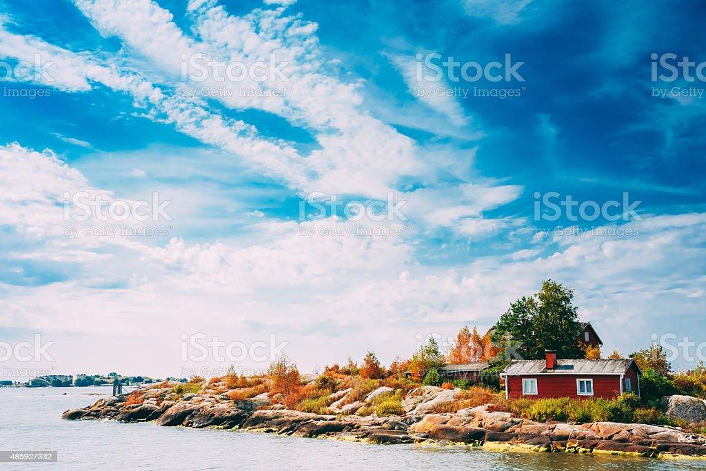 Pier, Harbour And Quay, Island Near Helsinki, Finland. stock photo