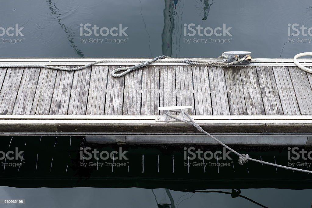 Pier harbour stock photo