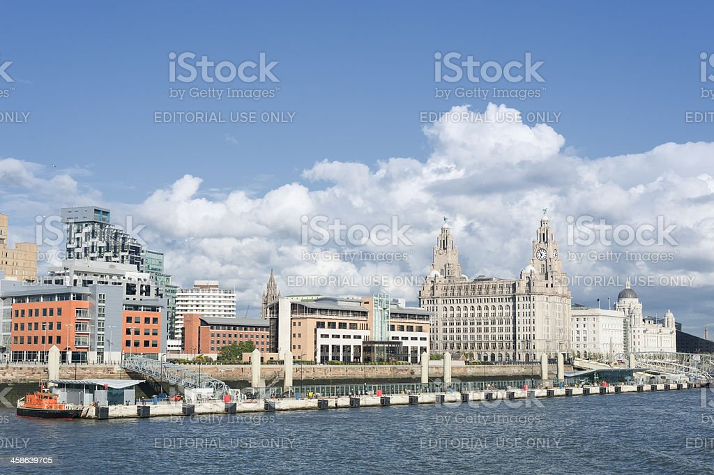 Pier Head and Prince's Landing Stage Liverpool stock photo