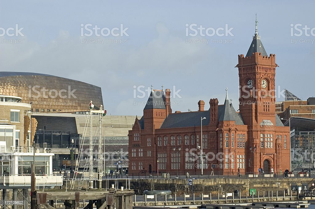 Pier Head Building, cardiff Bay royalty-free stock photo