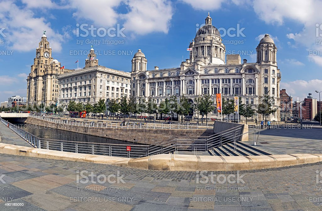 Pier Head Liverpool stock photo