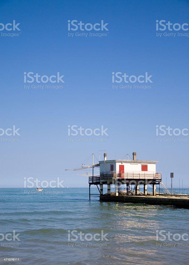 Pier house stock photo