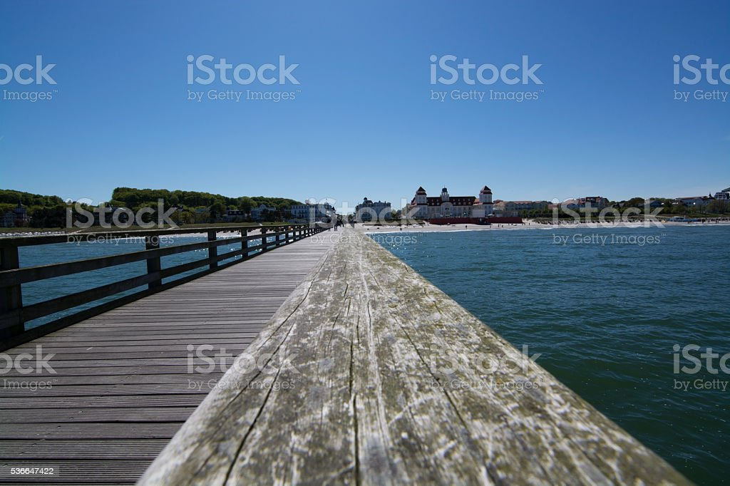 Pier in Binz, Germany stock photo