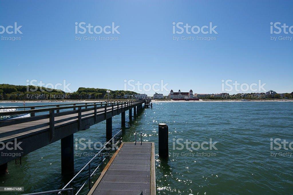 Pier in Binz, Germany stock photo