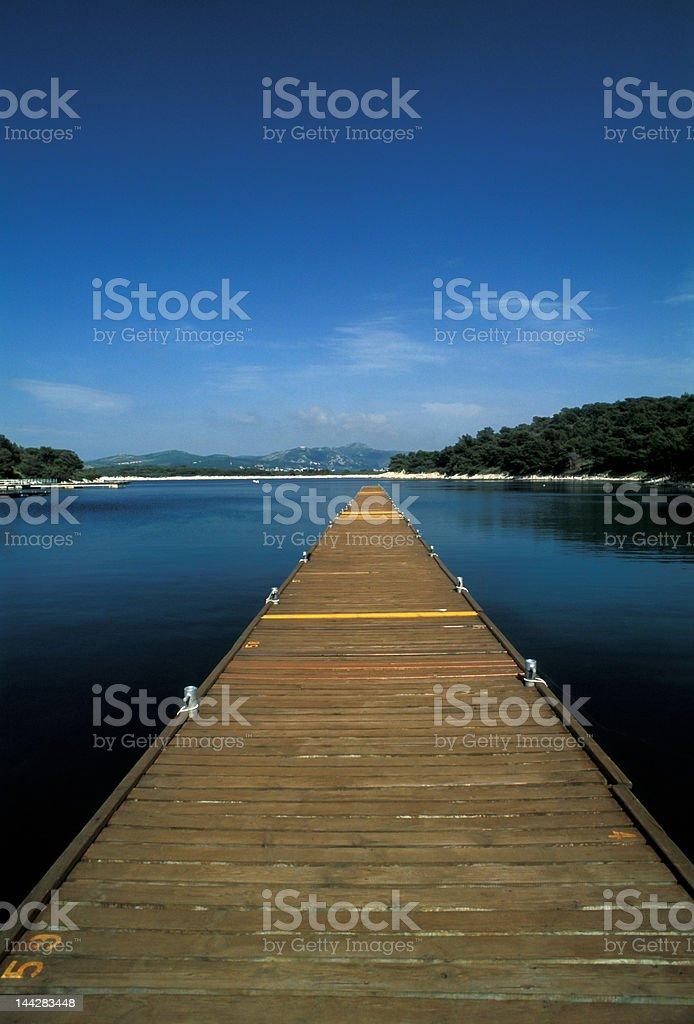 pier in croatia island royalty-free stock photo