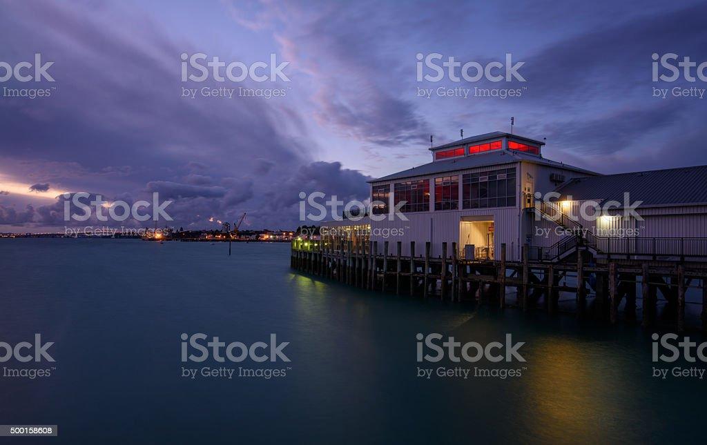 pier in Devonport, New Zealand stock photo