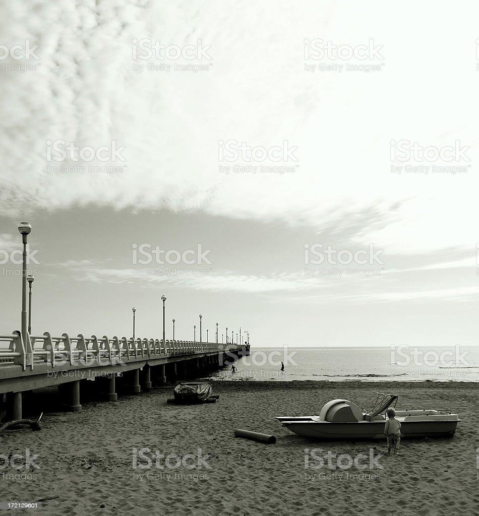Pier in Forte dei Marmi royalty-free stock photo