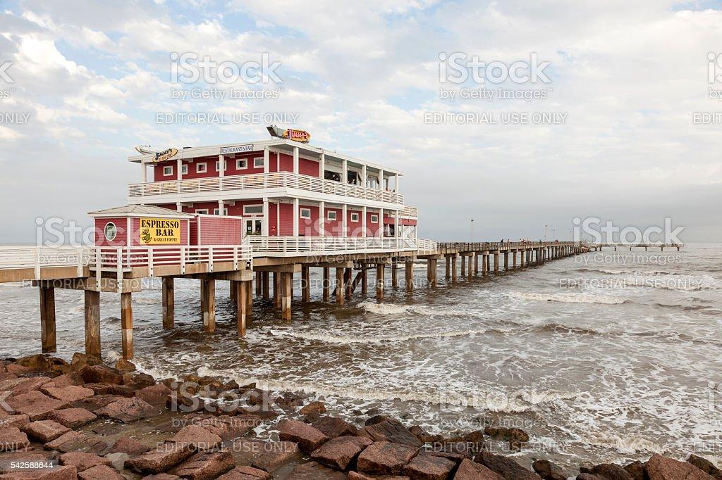 Pier in Galveston Island, Texas stock photo