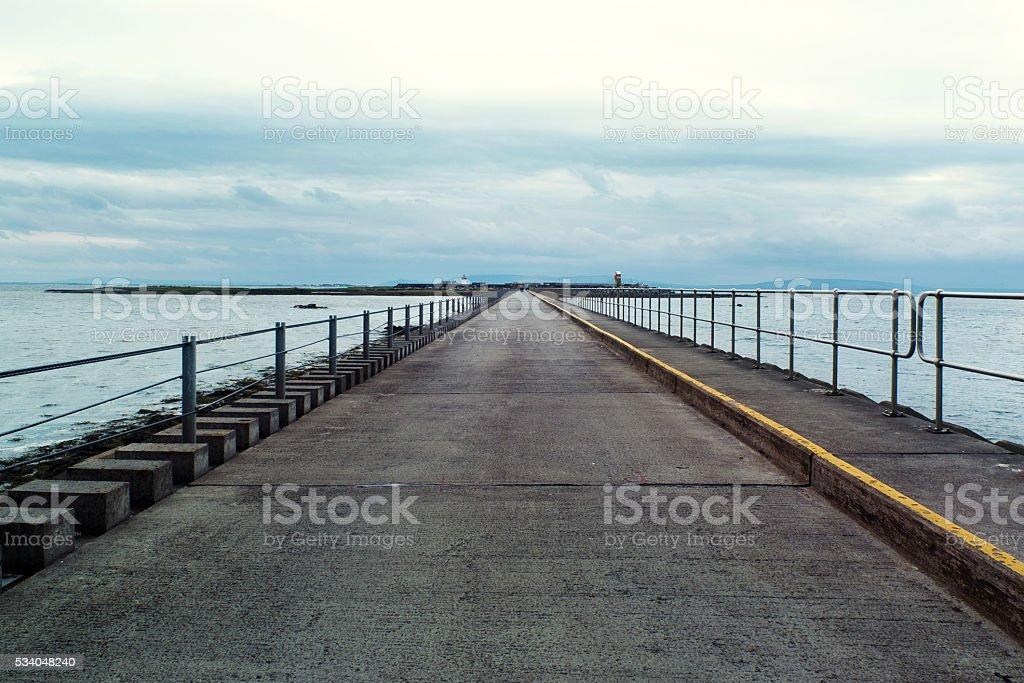 Pier in Galway Ireland stock photo