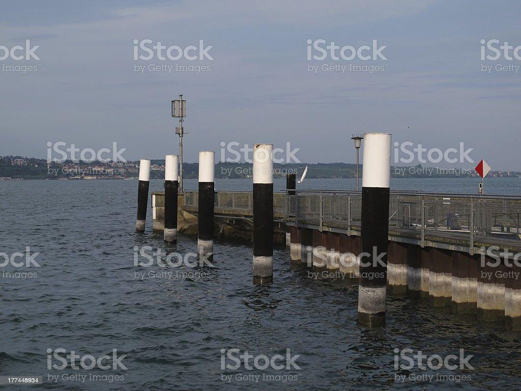 Pier in Meersburg royalty-free stock photo