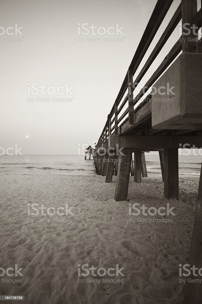 pier in Naples abstract view royalty-free stock photo