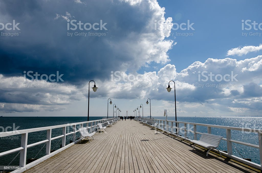 pier in Orłowo stock photo