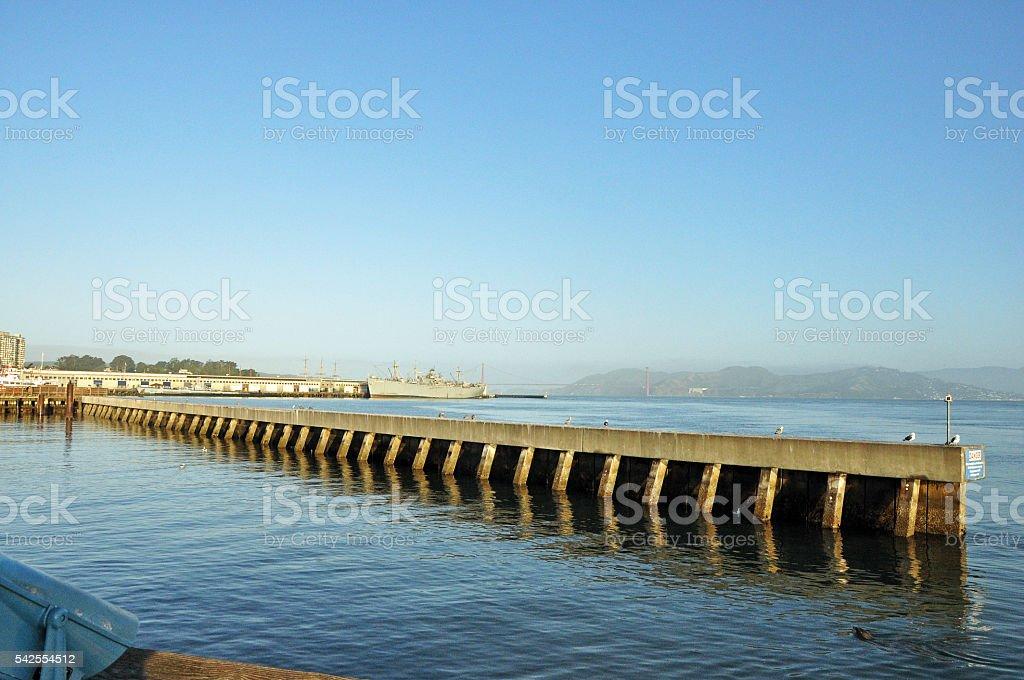 Pier in San Francisco, California stock photo