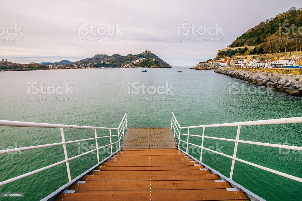 Pier in San Sebastian stock photo