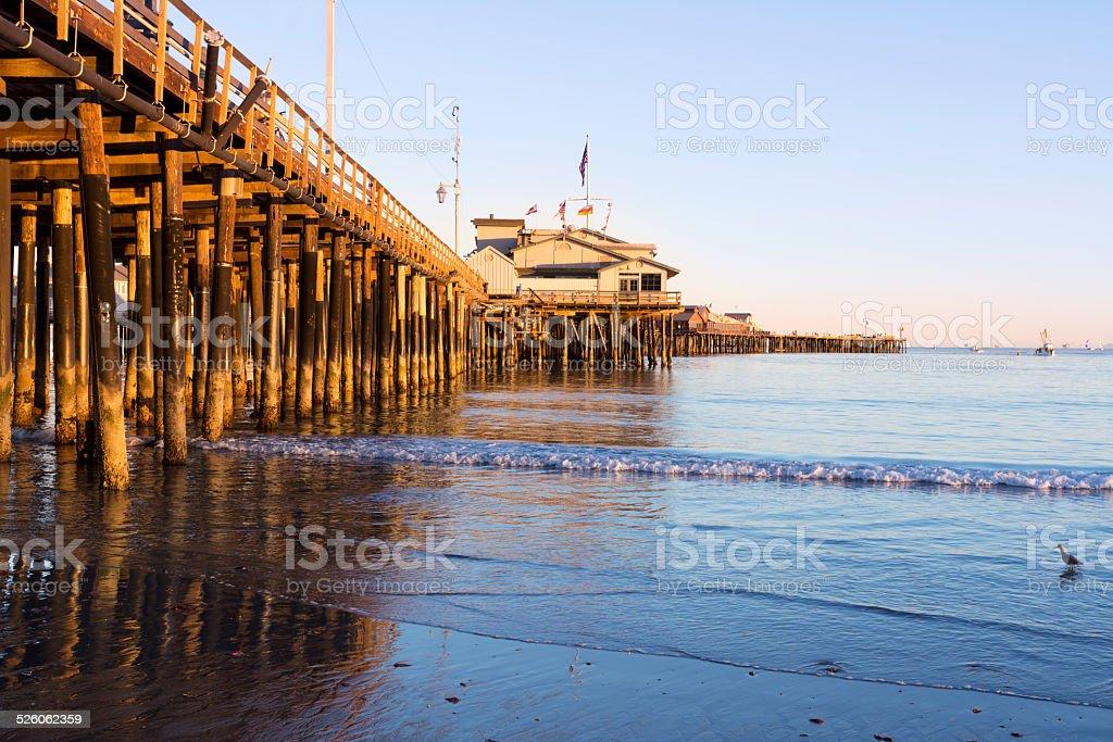 Pier in Santa Barbara stock photo