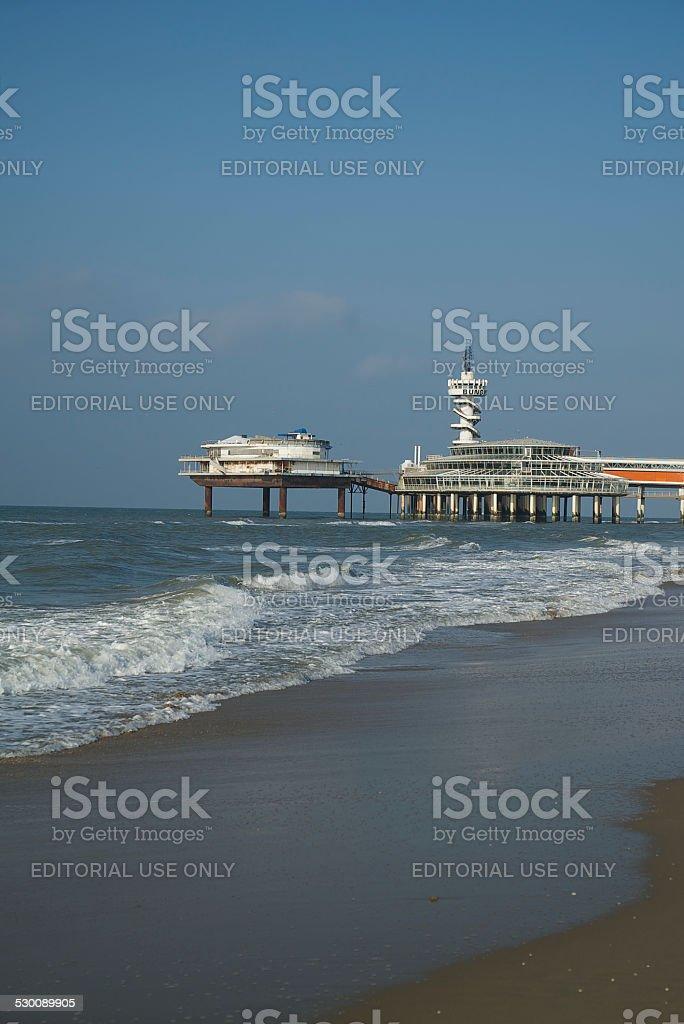 Pier in Scheveningen stock photo