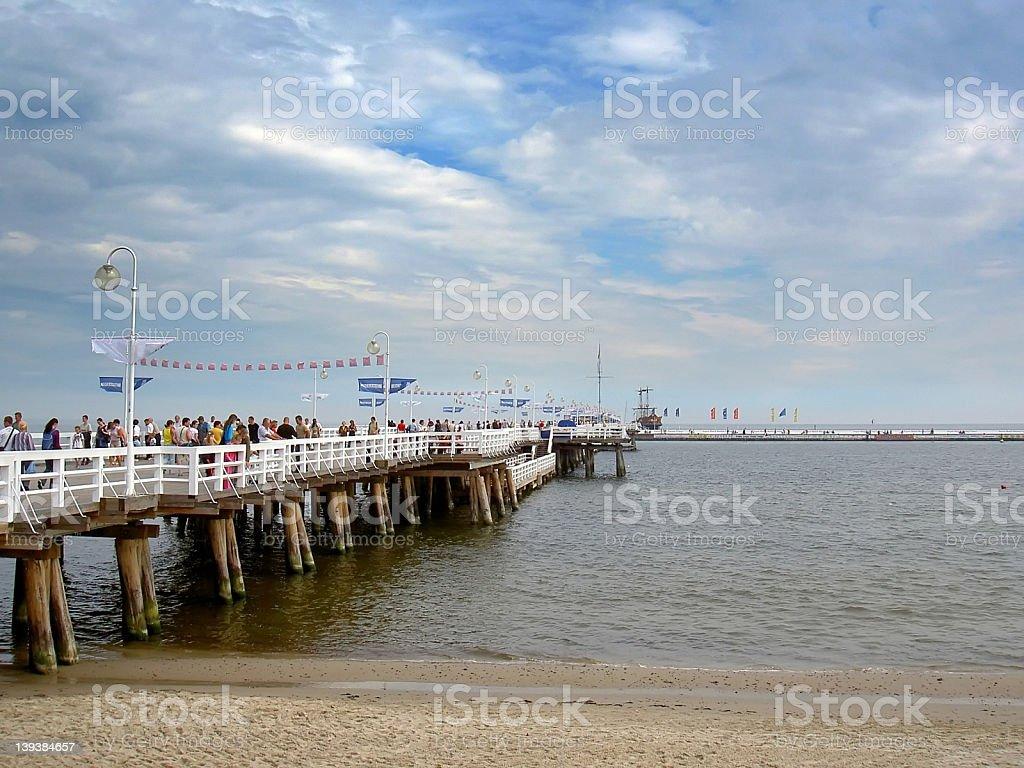 Pier in Sopot royalty-free stock photo