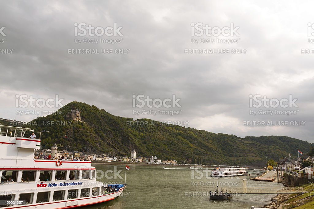 Pier in St. Goarshausen royalty-free stock photo