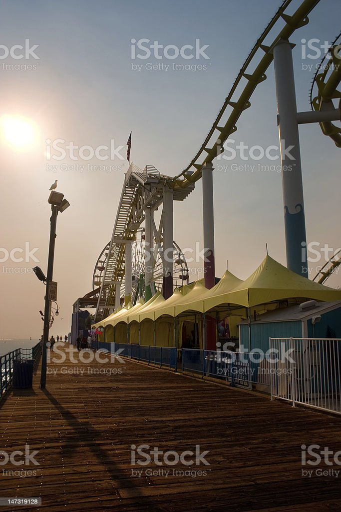 Pier in the afternoon royalty-free stock photo