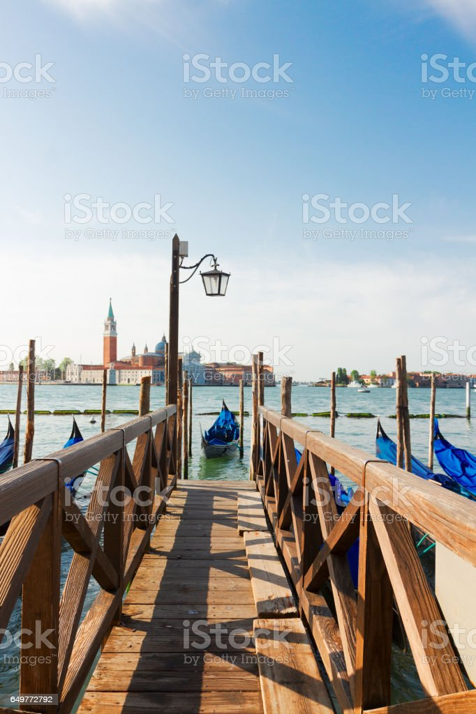 Pier in the Grand Canal, Venice stock photo