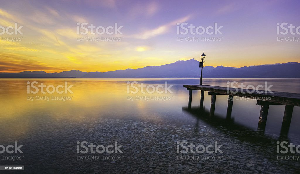 Pier in the Lake royalty-free stock photo