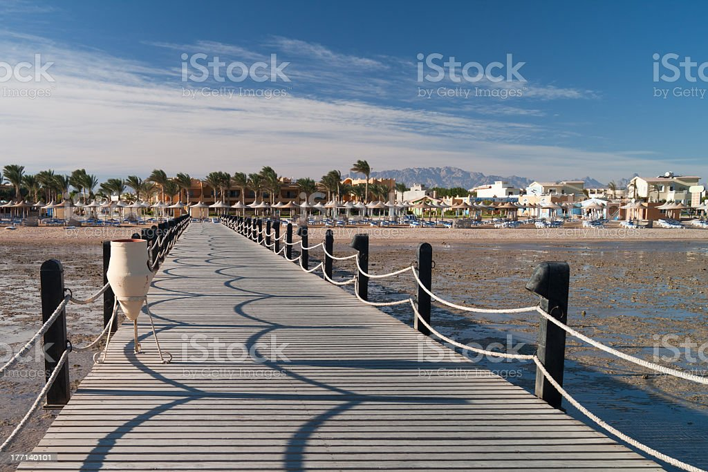 Pier in the morning. royalty-free stock photo