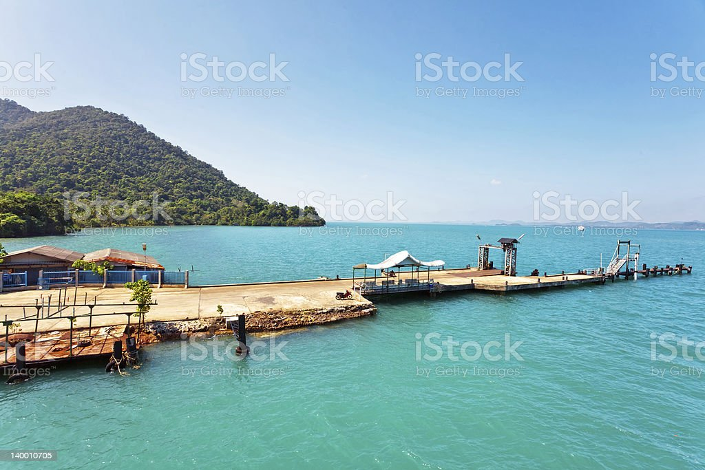 pier in the sea stock photo