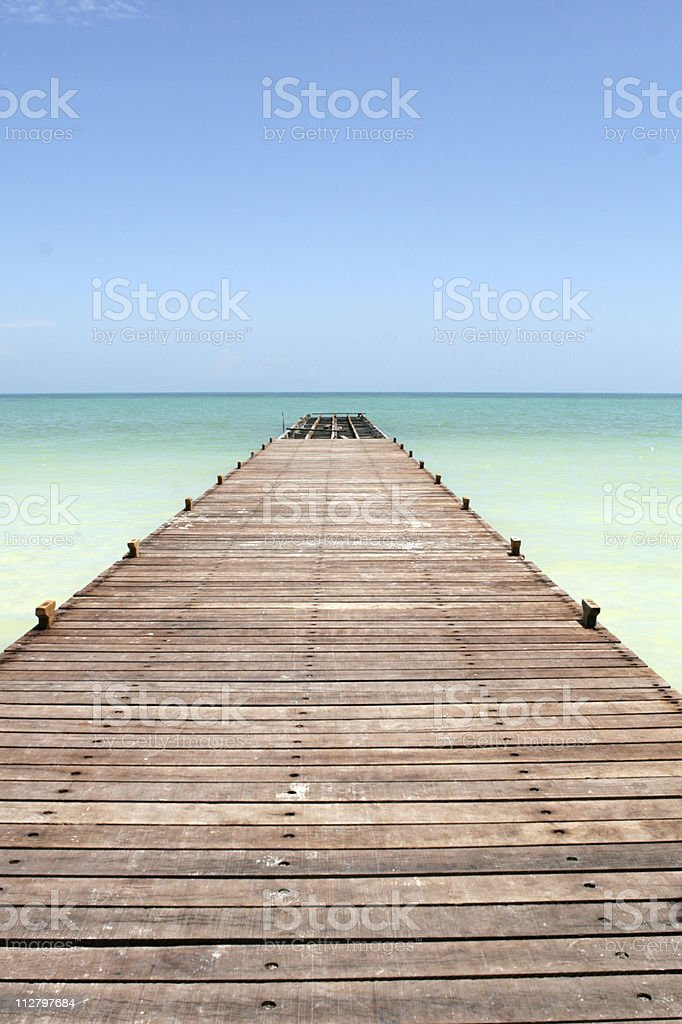 Pier into the Caribbean royalty-free stock photo