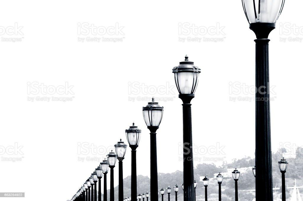 Pier Lights stock photo