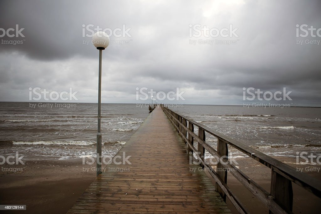 Pier  low view stock photo