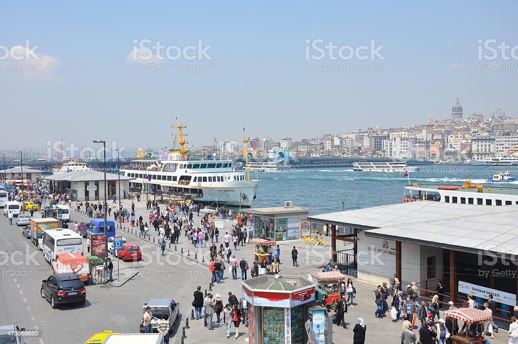 Pier of Eminönü stock photo