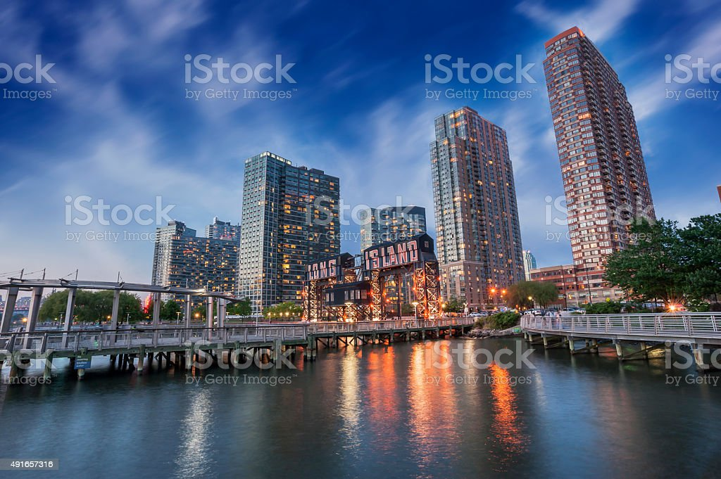 Pier of Long Island, New York City stock photo