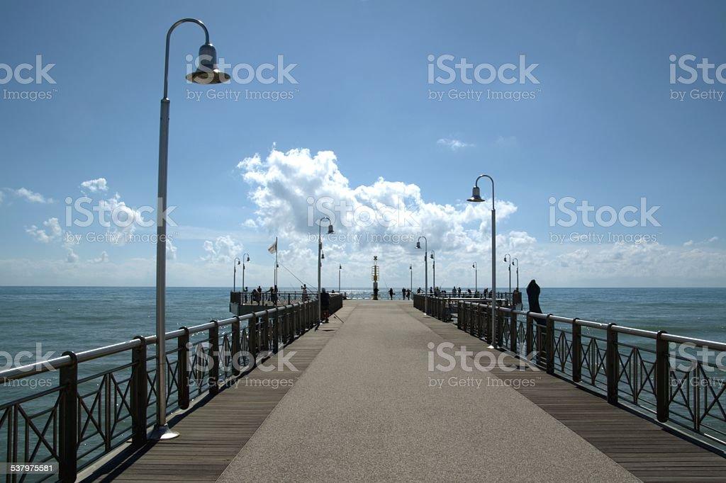 Pier of Marina Di Pietrasanta, Versilia Tuscany stock photo