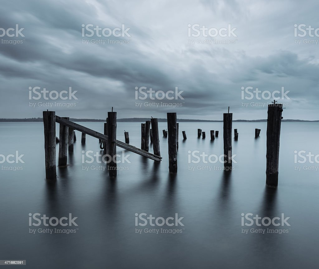 Pier of the Past royalty-free stock photo