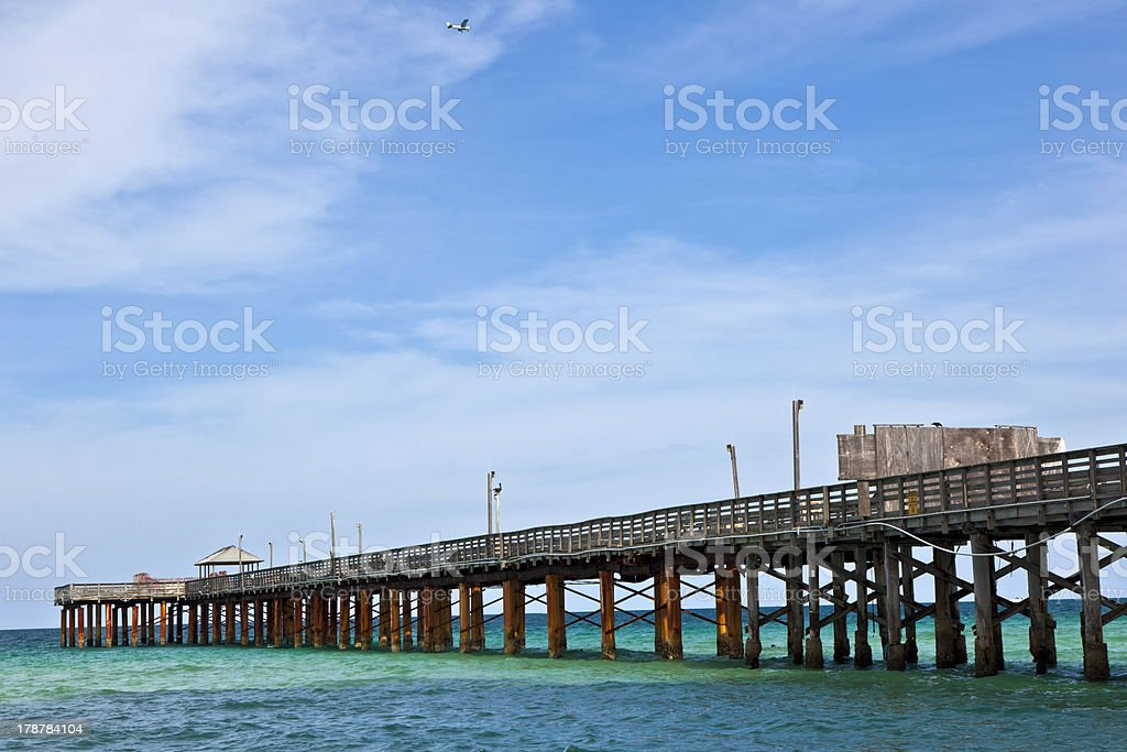 pier on a beach in Miami stock photo