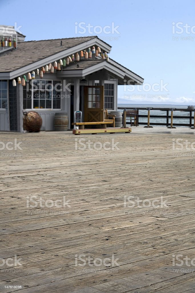 Pier on a sunny day stock photo