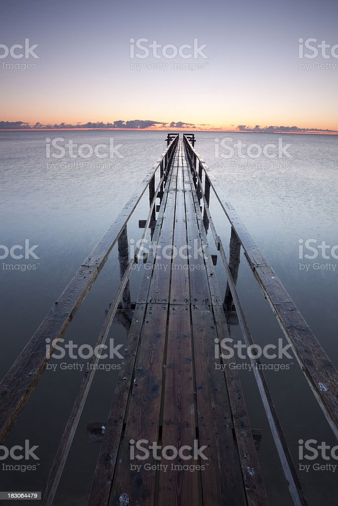Pier on Lake Winnipeg royalty-free stock photo