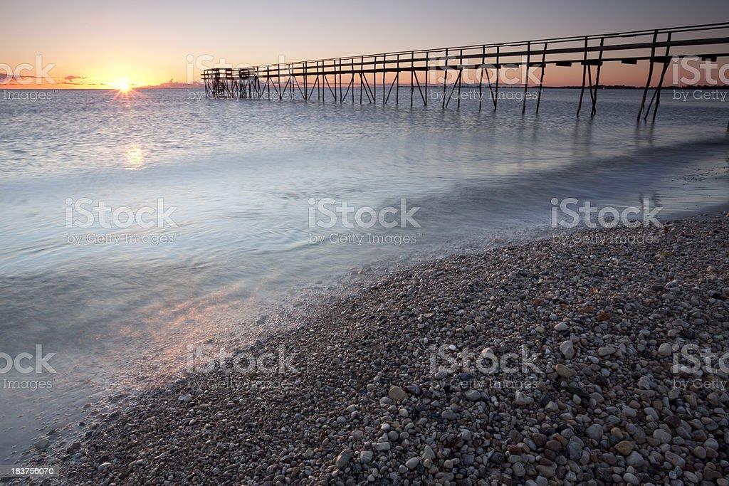 Pier on Lake Winnipeg royalty-free stock photo