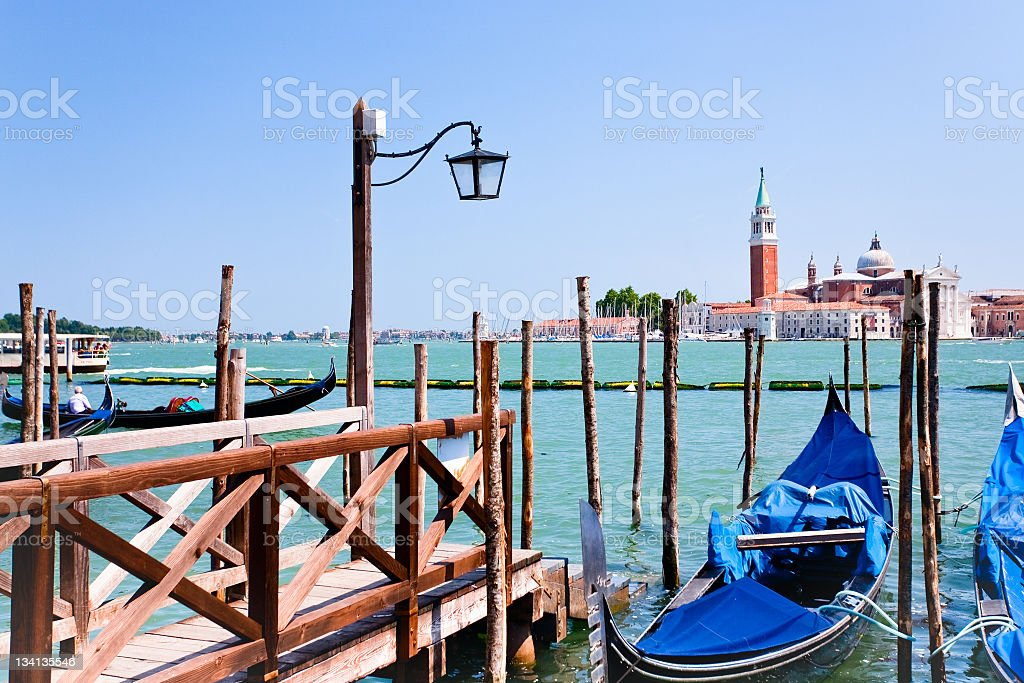 pier on San Marco Canal, Venice, Italy royalty-free stock photo