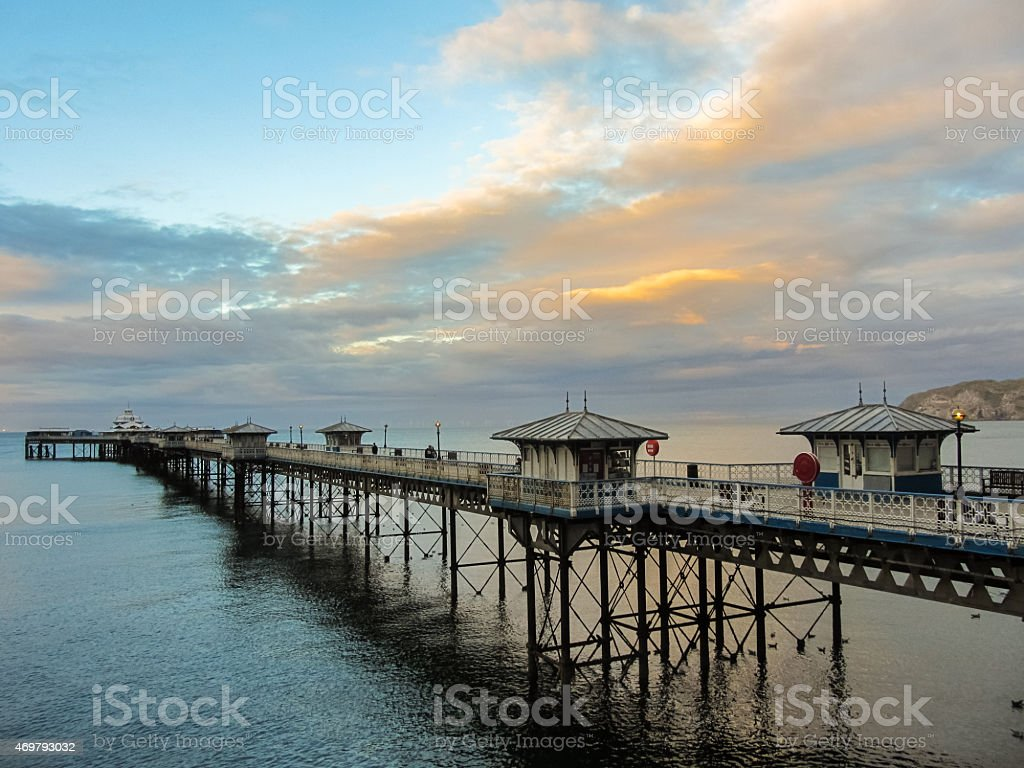 Pier on the sea stock photo