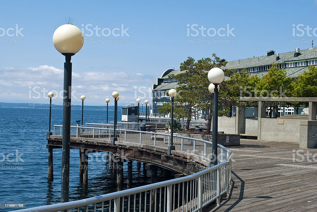 Pier on the Seattle waterfront royalty-free stock photo