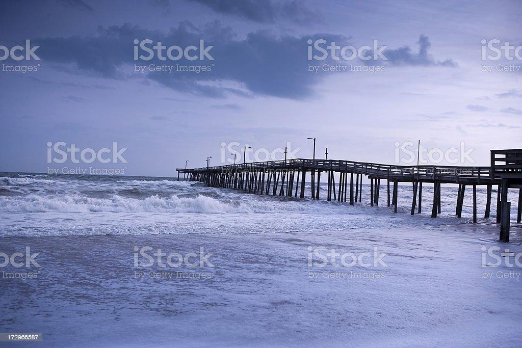 Pier over the Atlantic Ocean royalty-free stock photo