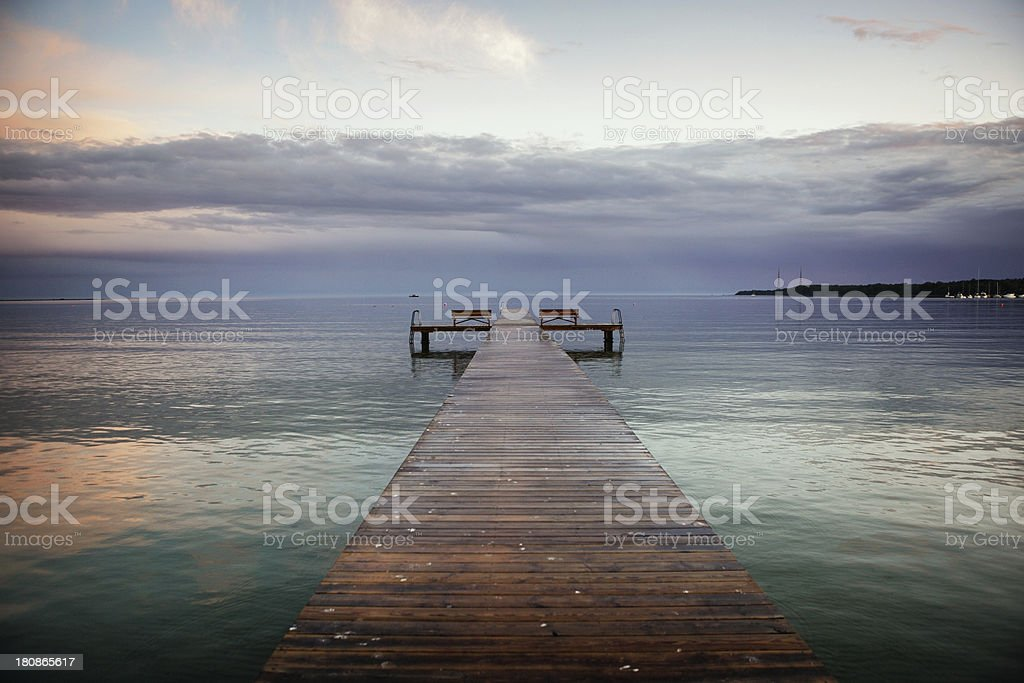 pier over water stock photo
