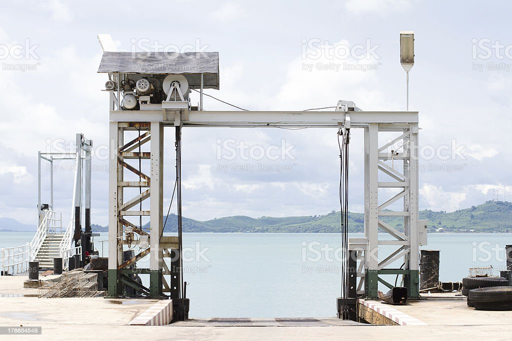Pier royalty-free stock photo
