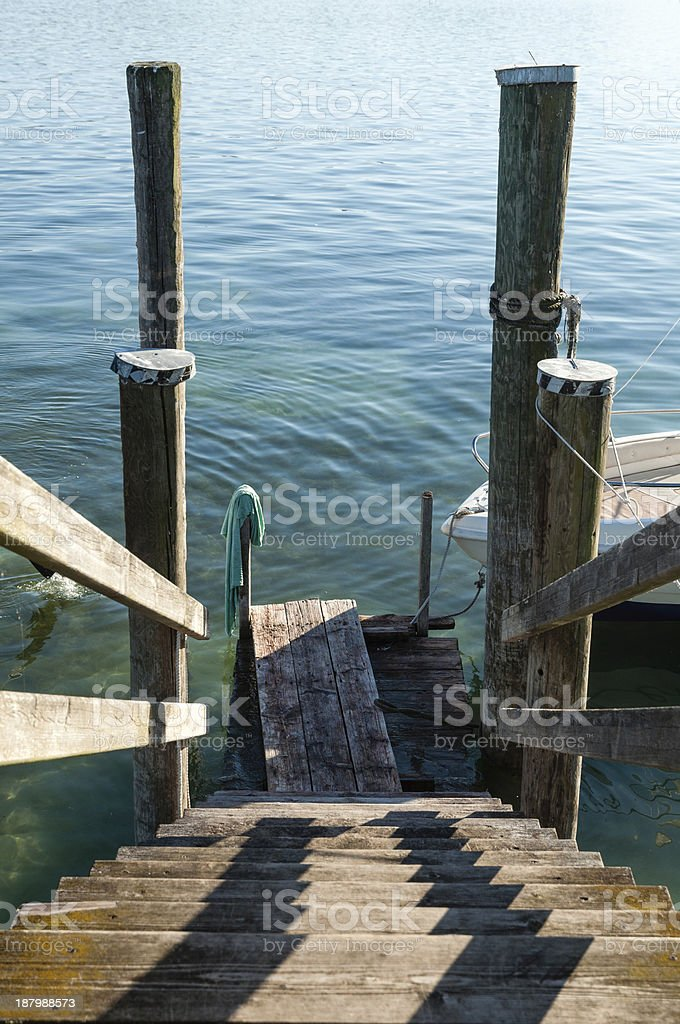 Pier, port of Horn, Lake Constance, Southern Germany stock photo