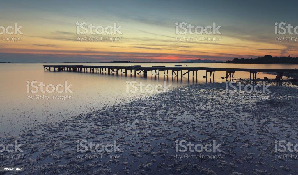 Pier strolling stock photo
