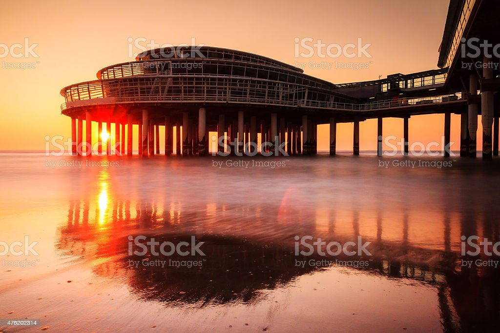 Pier Sunset stock photo