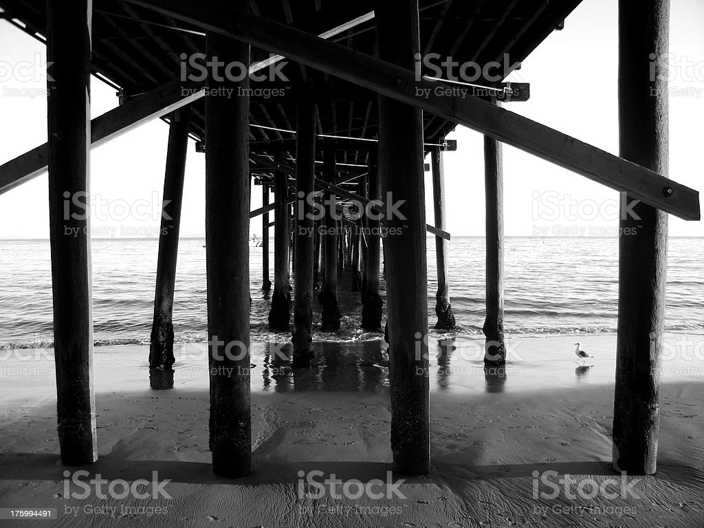 Pier Supports royalty-free stock photo