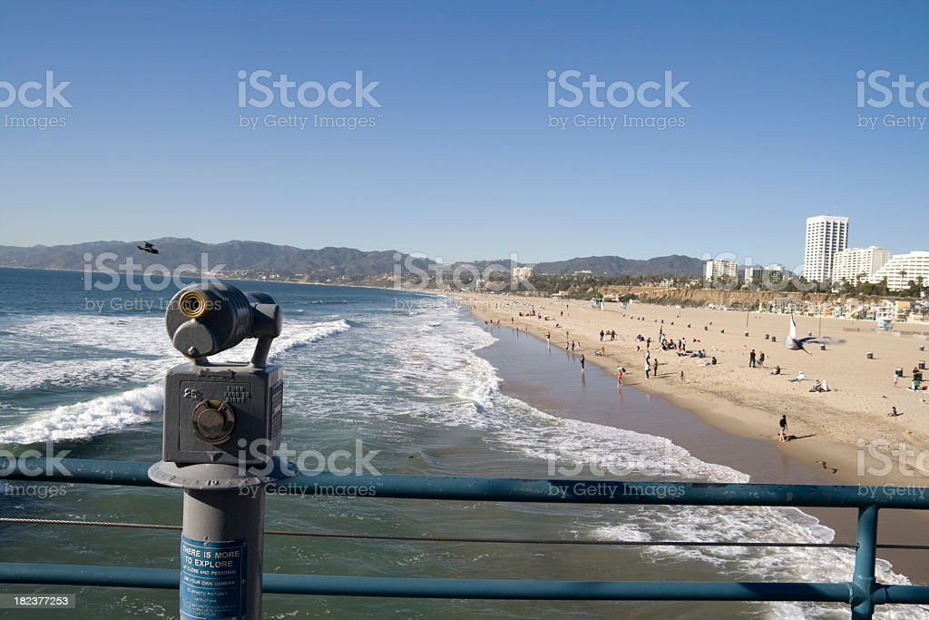 Pier Telescope royalty-free stock photo