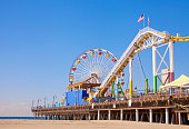 A pier that is located in Santa Monica, California